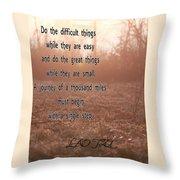 A Single Step Throw Pillow