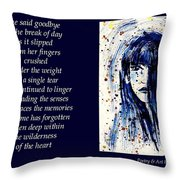A Single Tear - Poetry In Art Throw Pillow