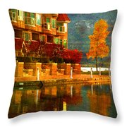 A Single Yellow Tree Throw Pillow