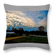 A Sky Like Turquoise And Mother Of Pearl Throw Pillow