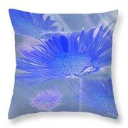 A Slanting Blue Wind  Throw Pillow