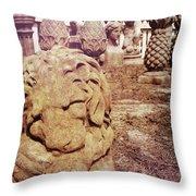 A Sleeping King Throw Pillow