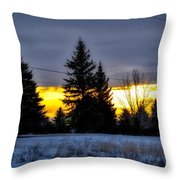 A Sleepy Morning Sunrise Throw Pillow