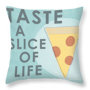 A Slice Of Life Throw Pillow by Linda Woods