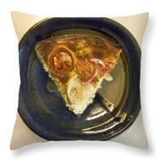 A Slice Of Savory Tomato And Cheese Tart Throw Pillow