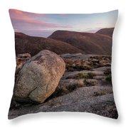 A Slievenaglogh Rock In Fading Golden Light  Throw Pillow