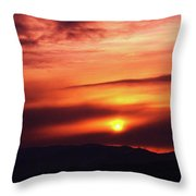 A Slow Sunset      Throw Pillow