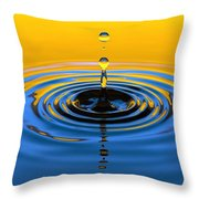 A Small Drop Of Hope Throw Pillow