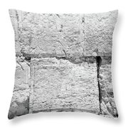 A Small Part Of The Wailing Wall In Black And White Throw Pillow