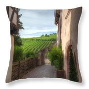 A  Small Side Street In Riquewihr Throw Pillow