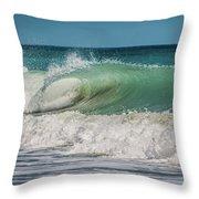A Small Tube Wave In Atlantic Ocean Throw Pillow