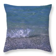 A Small Wave Ripples Onto Shore Throw Pillow