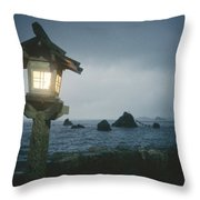 A Small Wooden Lantern Looks Throw Pillow by Luis Marden