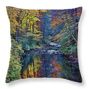 A Smoky Mountain Autumn Throw Pillow