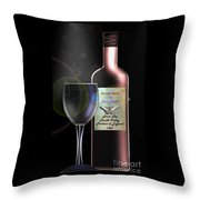 A Smooth Claret On Blue Nights Throw Pillow