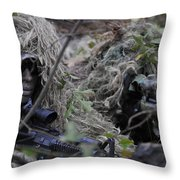 A Sniper Team Spotter And Shooter Throw Pillow