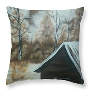 A Snow In Georgia Throw Pillow