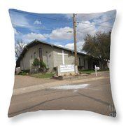 A Snowflake Church Throw Pillow
