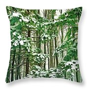 A Snowy Day - Paint Throw Pillow