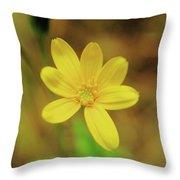 A Soft Yellow Flower  Throw Pillow