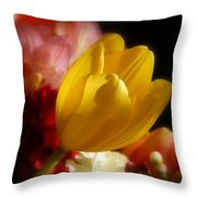 A Softer Shade Of Yellow Throw Pillow