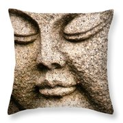 A Solid Face Throw Pillow