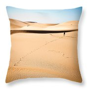 A Solitary Walk Throw Pillow