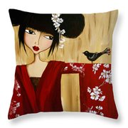A Song For Suki Throw Pillow