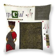 A Special Friend Throw Pillow