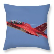 A Special Painted Yak-130 Performing Throw Pillow