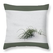 A Speck Of Green Throw Pillow