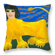 A Sphinx Throw Pillow