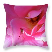 A Spider And A Rose Throw Pillow