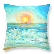 A Splash Of Dawn Throw Pillow