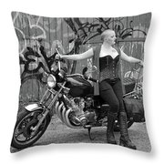 A Splash Of Monochrome Throw Pillow