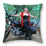 A Splash Of Red Throw Pillow