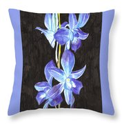 A Spray Of Orchids Throw Pillow