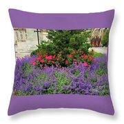 A Spring Bouquet From Mount Vernon, Baltimore Throw Pillow