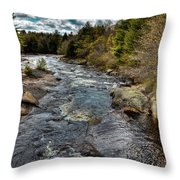 A Spring Day At Little Woodhull Creek Throw Pillow