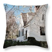 A Spring Day In Colonial Williamsburg Throw Pillow