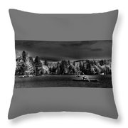 A Spring Day On Old Forge Pond Throw Pillow