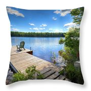 A Spring Day On West Lake Throw Pillow