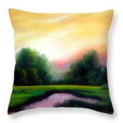 A Spring Evening Throw Pillow by James Christopher Hill