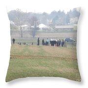 A Spring Gathering Throw Pillow