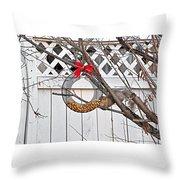 A Squirrel Christmas Throw Pillow