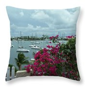 A St Maarten Marina Throw Pillow