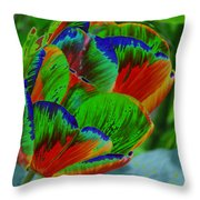 A Stained Tullip   Throw Pillow