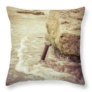 A Stake In The Beach Throw Pillow