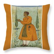 A Standing Portrait Of A Courtier Throw Pillow