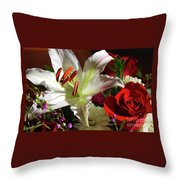 A Star Lily With  A Rose Throw Pillow